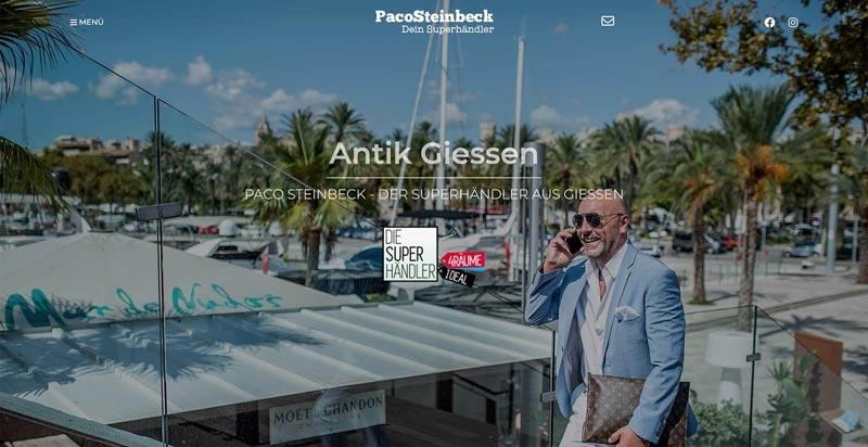 Paco Steinbeck - Webdesign