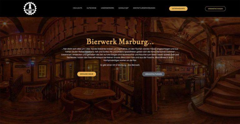 Bierwerk Marburg - Webdesign