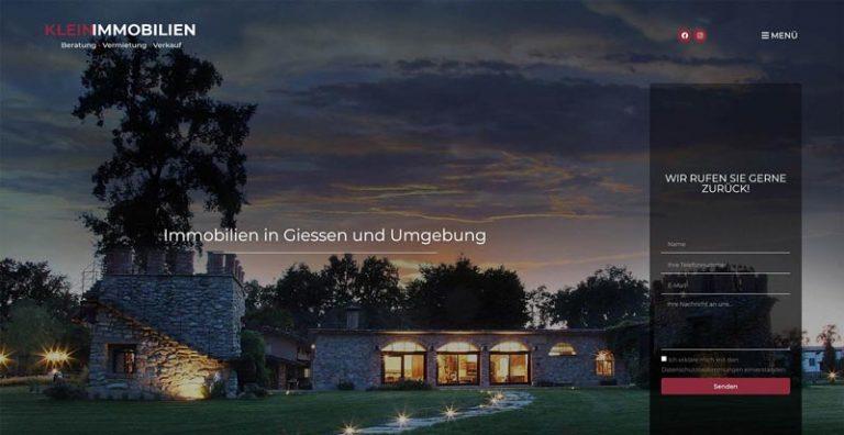 Klein Immobilien - Webdesign